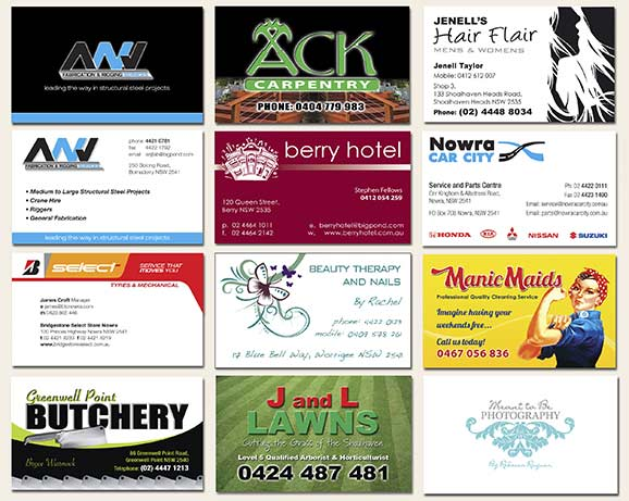 Our print shop can accommodate all your printing requirements business cards samples reheart Image collections